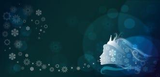 зима сказки иллюстрация вектора