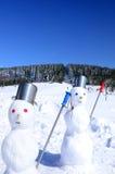 зима снеговика места потехи Стоковые Фотографии RF