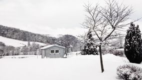 Зима, снег, Campagn, Marcenod Стоковое Фото