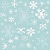 Зима, снежинки голубая предпосылка, обои бесплатная иллюстрация