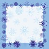 зима снежинки граници Стоковое Фото