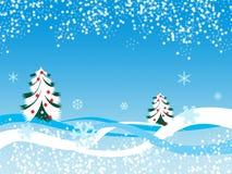 зима снежинки ландшафта Стоковые Изображения