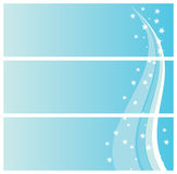 зима снежинок знамен Стоковые Фотографии RF
