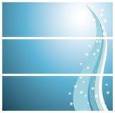 зима снежинок знамен Стоковые Изображения RF