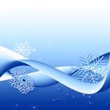 зима снежинок предпосылки Стоковая Фотография RF