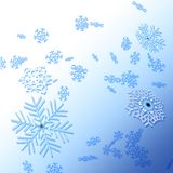 зима снежинок предпосылки Стоковое Изображение