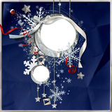 зима снежинок рамки иллюстрация вектора