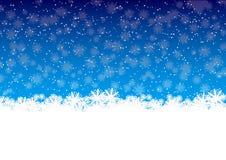 зима снежинок Стоковые Изображения RF