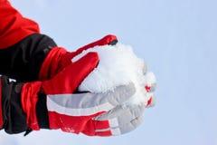зима снежка перчаток Стоковое Изображение RF