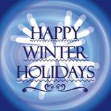 зима снежка положения праздников мальчика Пожелайте вам счастливые праздники бесплатная иллюстрация