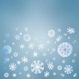 зима снежка праздника приветствию рождества карточки предпосылки Стоковые Изображения