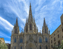 зима 2009 собора barcelona принятая Испанией стоковое фото rf