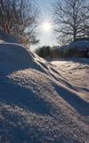 зима солнца пейзажа Стоковое Фото