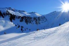 зима солнца alps Стоковые Изображения