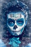 Зима составляет череп сахара Стоковое Фото