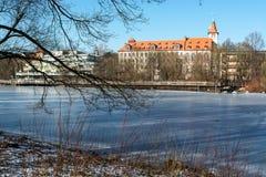 зима солнца природы пущи Город стоковое фото
