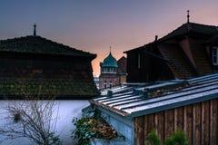 зима солнца природы пущи Город стоковое фото rf