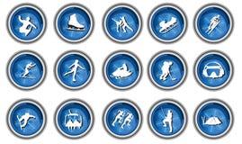 зима спорта иконы установленная Стоковое фото RF