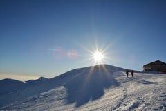 Зима спорта и воссоздания на высоте Sinaia 2000m Стоковое Изображение RF