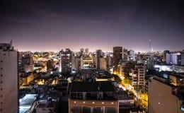 Зима сцены ночи Буэноса-Айрес Стоковое Фото