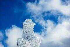 Зима с снегом в гигантских горах, чехией Стоковое фото RF