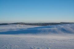 зима температуры России ландшафта 33c января ural день солнечный Спад зимы Яркие цвета Простой ландшафт Дорога леса леса зимы fil Стоковое фото RF
