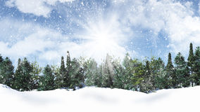 зима температуры России ландшафта 33c января ural Стоковая Фотография RF