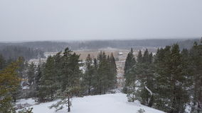 зима температуры России ландшафта 33c января ural Стоковые Фото