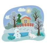 зима температуры России ландшафта 33c января ural иллюстрация штока