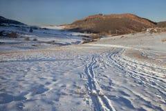 зима тропки гор colorado утесистая стоковые фотографии rf