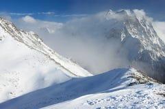 зима Украины горы ландшафта dragobrat Стоковое фото RF