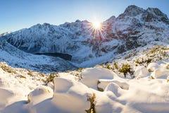 зима Украины горы ландшафта dragobrat стоковая фотография