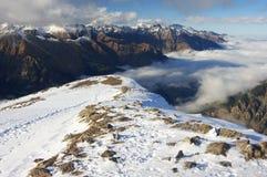 зима Украины горы ландшафта dragobrat стоковое фото