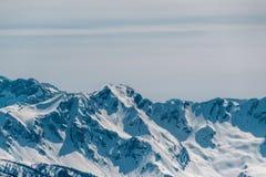 зима Украины горы ландшафта dragobrat Krasnaya Polyana, Сочи, Россия Стоковое фото RF