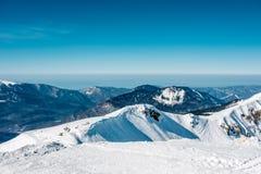 зима Украины горы ландшафта dragobrat Krasnaya Polyana, Сочи, Россия Стоковые Изображения RF