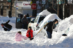 зима улицы вьюги отавы Стоковая Фотография