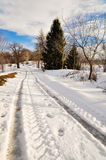 зима улицы горы Стоковое Изображение