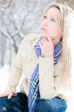 зима улицы девушки Стоковые Изображения RF