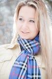 зима улицы девушки Стоковое Изображение