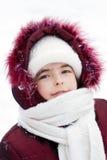 зима улицы портрета девушки Стоковая Фотография RF