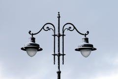 зима улицы снежка полюса светильника Стоковое Изображение