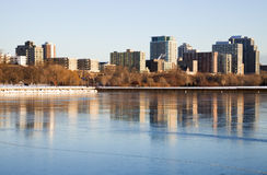 зима утра озера Стоковое Изображение RF