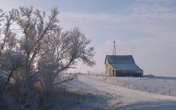 зима утра сельская стоковое фото rf
