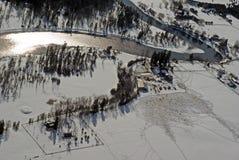 зима фермы Стоковое Изображение