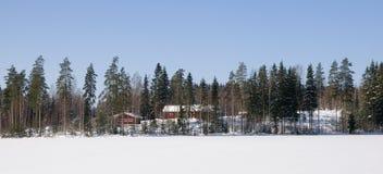 зима Финляндии стоковое изображение