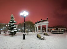 зима фонтана города Стоковые Фотографии RF