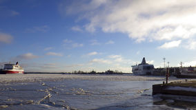 Зима Хельсинки Стоковые Фото