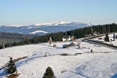 зима холма бортовая Стоковые Изображения