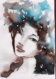 Зима, холодный портрет иллюстрация вектора
