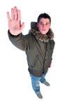 зима человека пальто Стоковые Фотографии RF